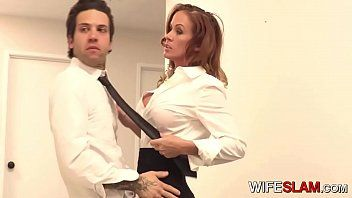 Sexy slutwife sabrina cyns copulates her co-worker