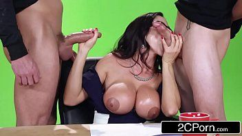 Large news on the boob tube - hawt milf ariella ferrera bonks on camera
