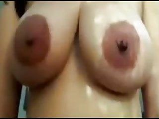 Mega areolas with large nips on massive latin titties riding schlong