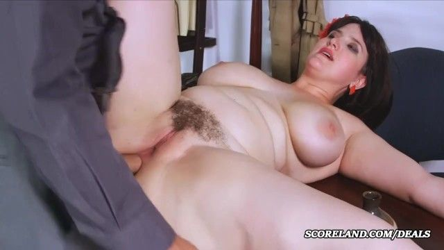Obese honey with an bushy cum-hole