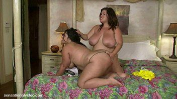Large tit obese lesbos take up with the tongue every others juicy love tunnel