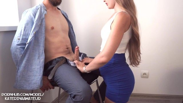 Interview in the office with juvenile secretary ended with large cum on pantoons 4k