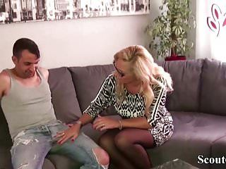 German large tit milf fuck with the ally of her daughter