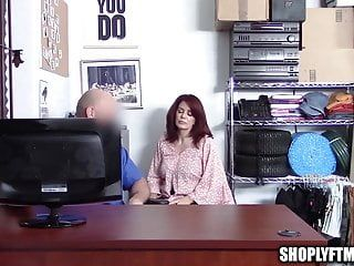 Large tit aged milf caught shoplifting bonks security guard