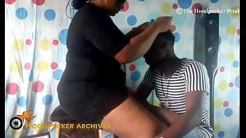 Sexy bbw south afro hair stylist team-fucked in her shop by bbc.