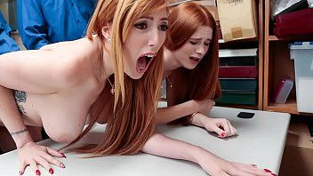 Redhead mommy and daughter pumped by cop after being caught stealing at store - lauren phillips, scarlett snow