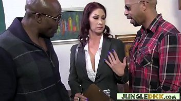 Concupiscent milf realtor hits on 2 swarthy men tiffany mynx